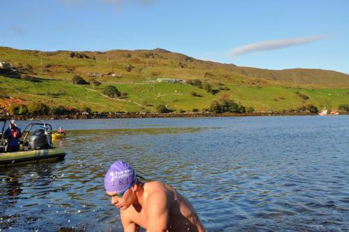 4 km gezwommen